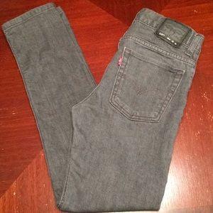 Levi's 510 skinny gray jeans 18 REG (505)